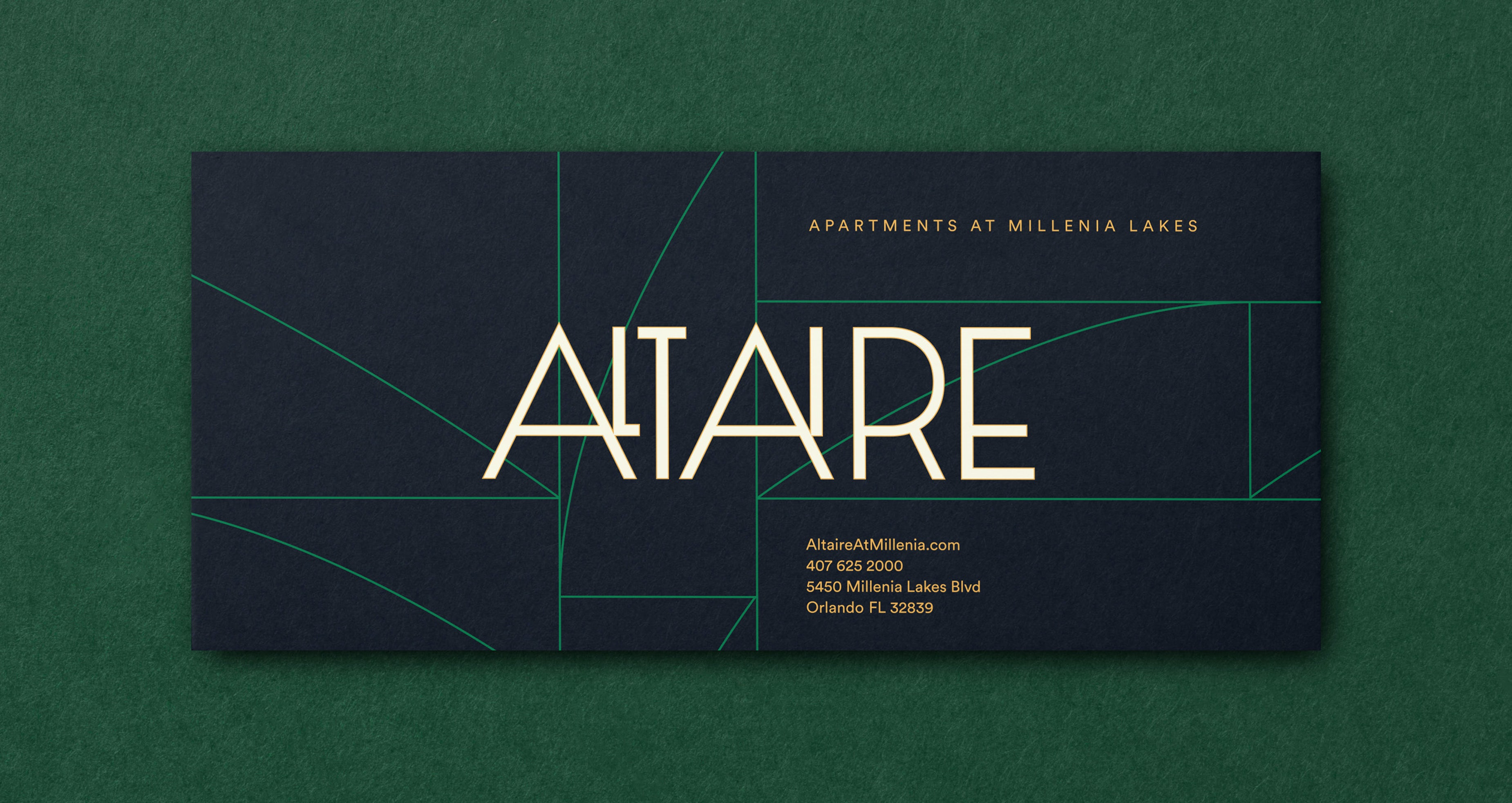 Altaire Logo Card Typography Graphic Design Chicago Span