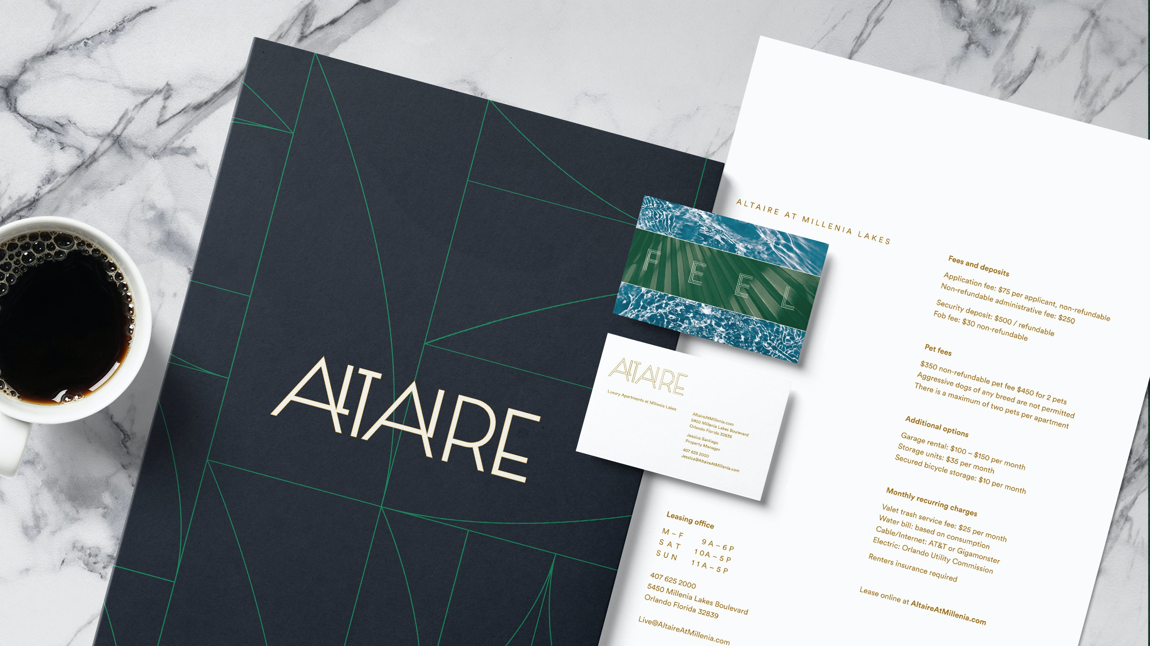 Altaire Logo Stationery Typography Graphic Design Chicago Span