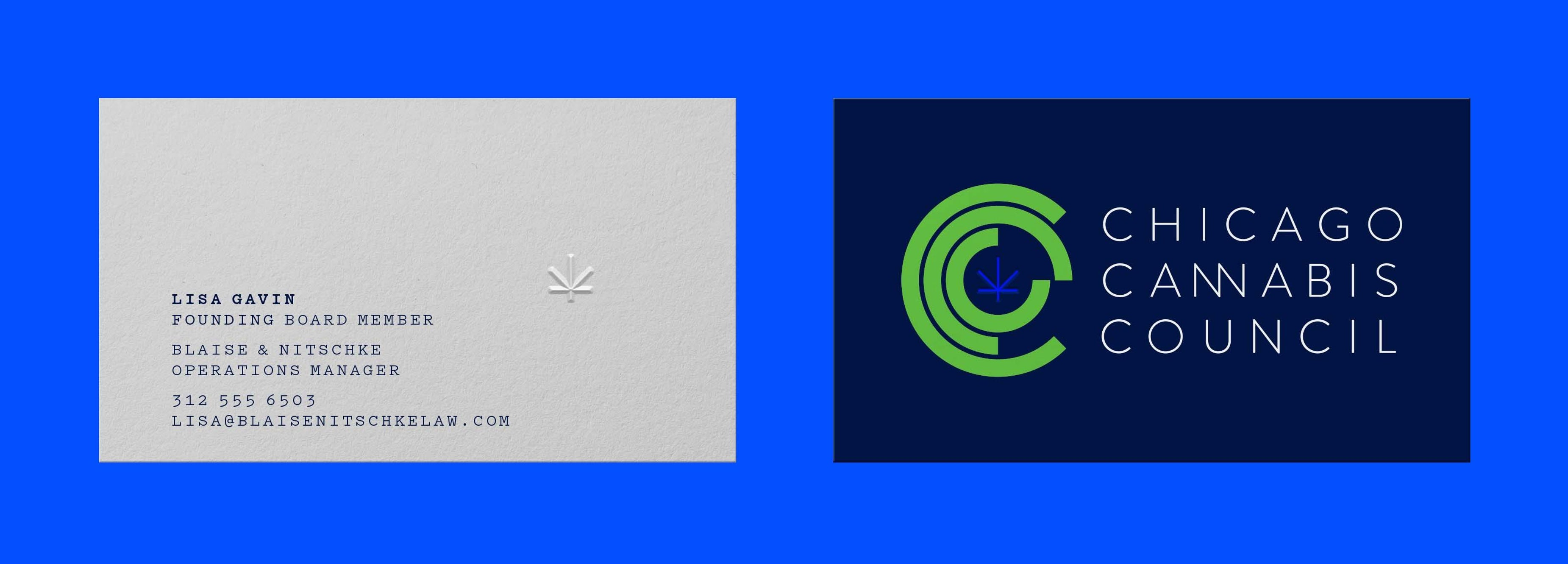 CCC Cannabis Business Card Chicago Graphic Design Span
