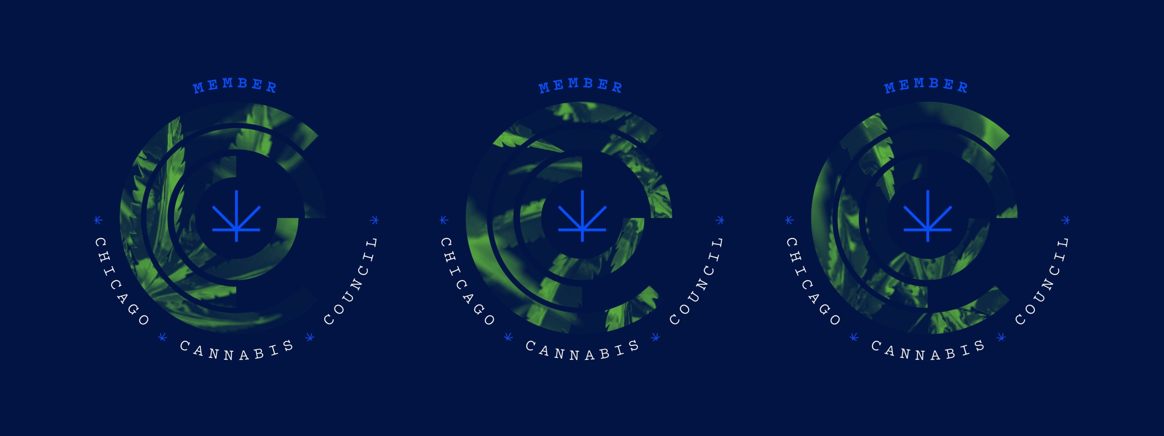 CCC Chicago Cannabis Council Branding Members Seal Chicago Graphic Design Span