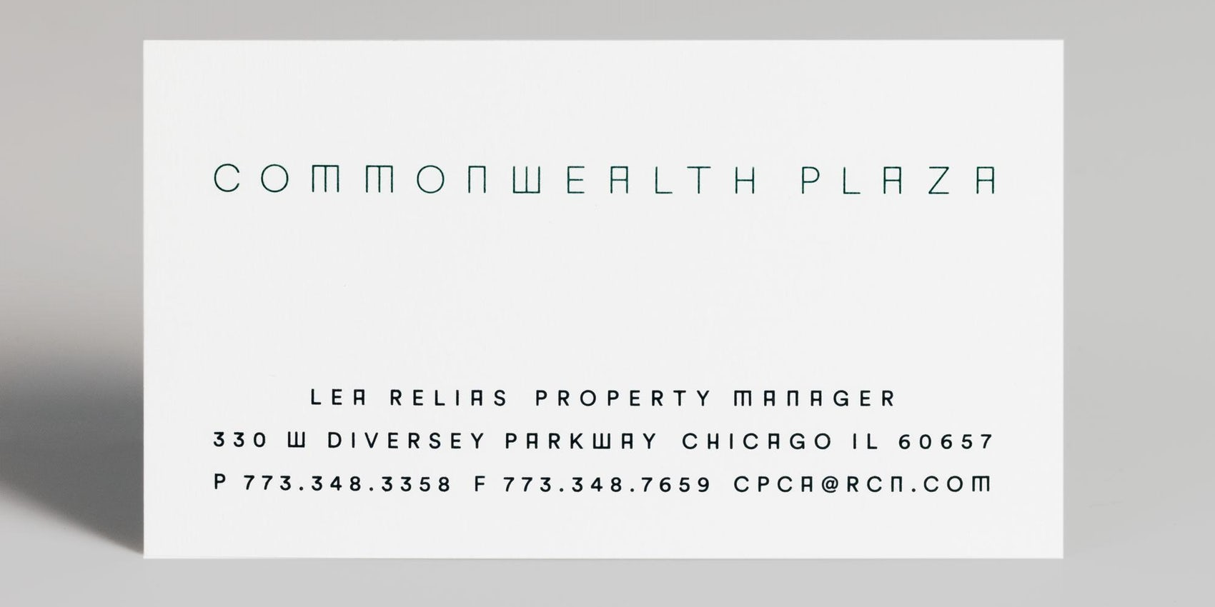 Commonwealth Plaza Business Cards