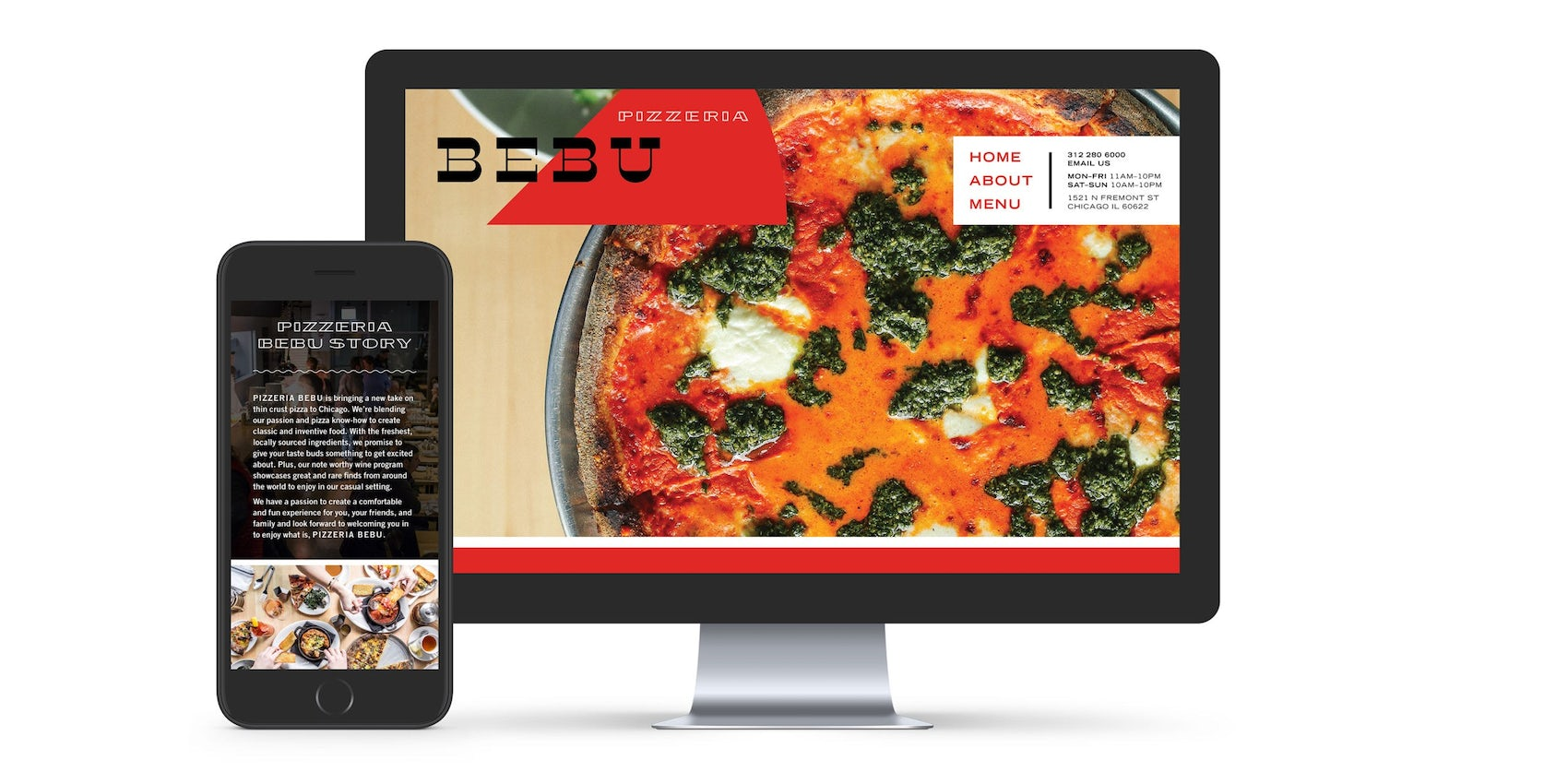 Pizzeria Bebu Graphic Identity Website Design