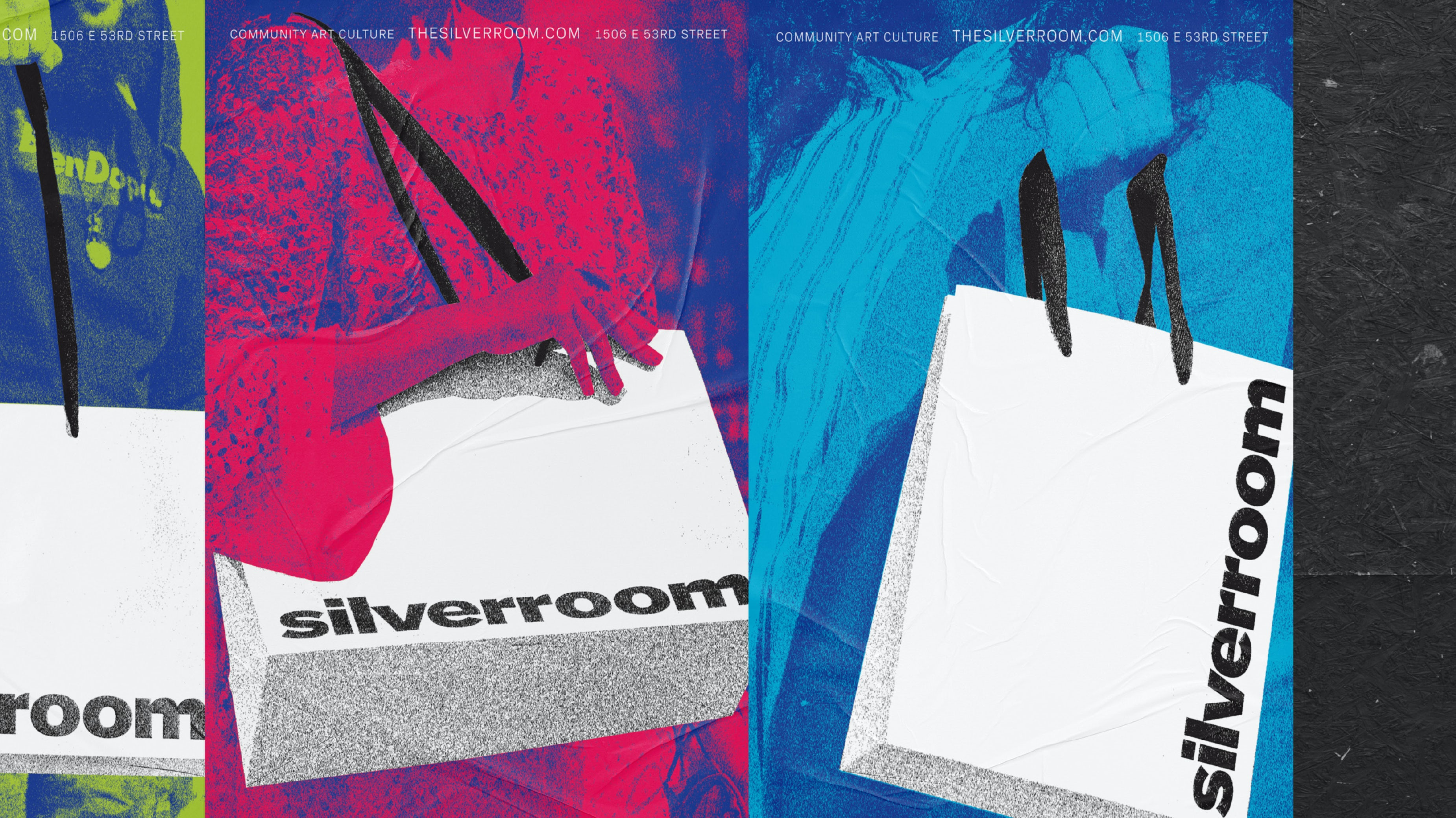 Silverroom Graphic Design Ad Campaign Posters Typography Span header