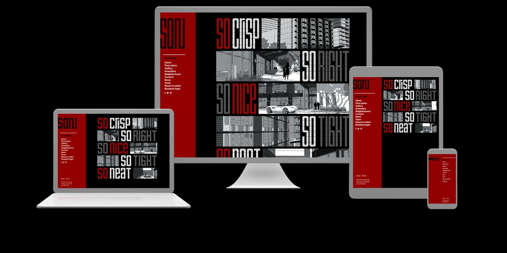So Nu Graphic Identity Website